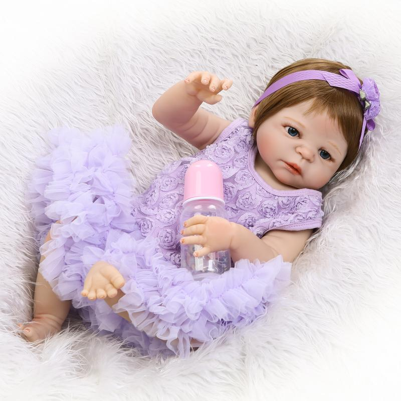 NPKDOLL 55 CM Reborn Babies Dolls Full Vinyl Realistic boneca baby Toys For Girls Alive Baby Doll For Playmate Gift 22 Inch 18 inch vinyl reborn doll kids playmate gift for girls 45 cm baby alive soft toys for children lifelike reborn babies dolls