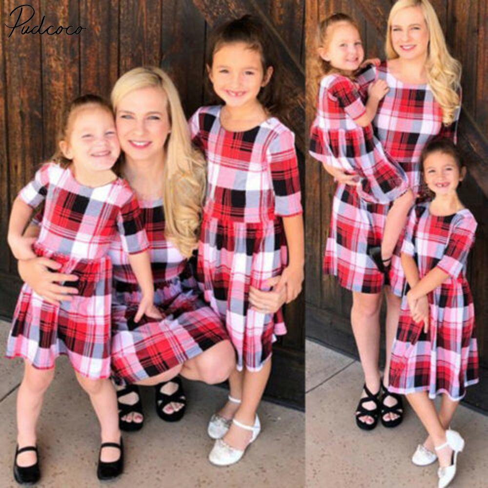 Family Matching Outfits Mother And Daughter Clothes Floral Parent-child Dress