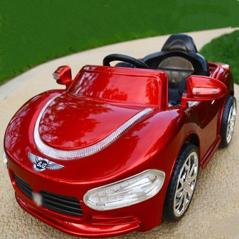 Enfants voiture électrique télécommande tour sur voiture quatre roues double entraînement enfants jouet voiture Bluetooth Radio contrôle enfants voiture jouets