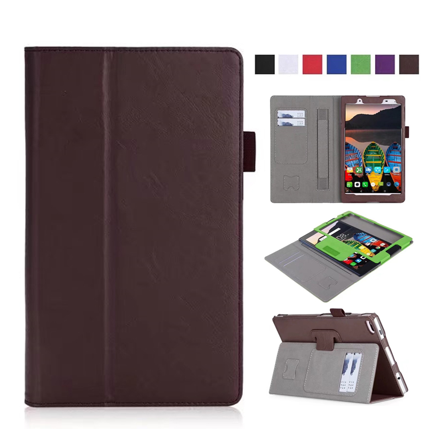 Tab4 8 PU Leather Case Cover Protective Stand Skin Wallet Cases for Lenovo TAB 4 8 8.0 TB-8504F TB-8504N Smart Tablet PC Fundas 2017 new for lenovo tab2 a8 pu leather stand protective skin case for lenovo 8 inch tab 2 a8 50 a8 50f tablets cover film pen
