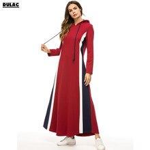 cb57ad3dfb Stany zjednoczone zima jesień bliski wschód muzułmańskie kobiety moda z  długim rękawem na co dzień luźne grube z kapturem długa .