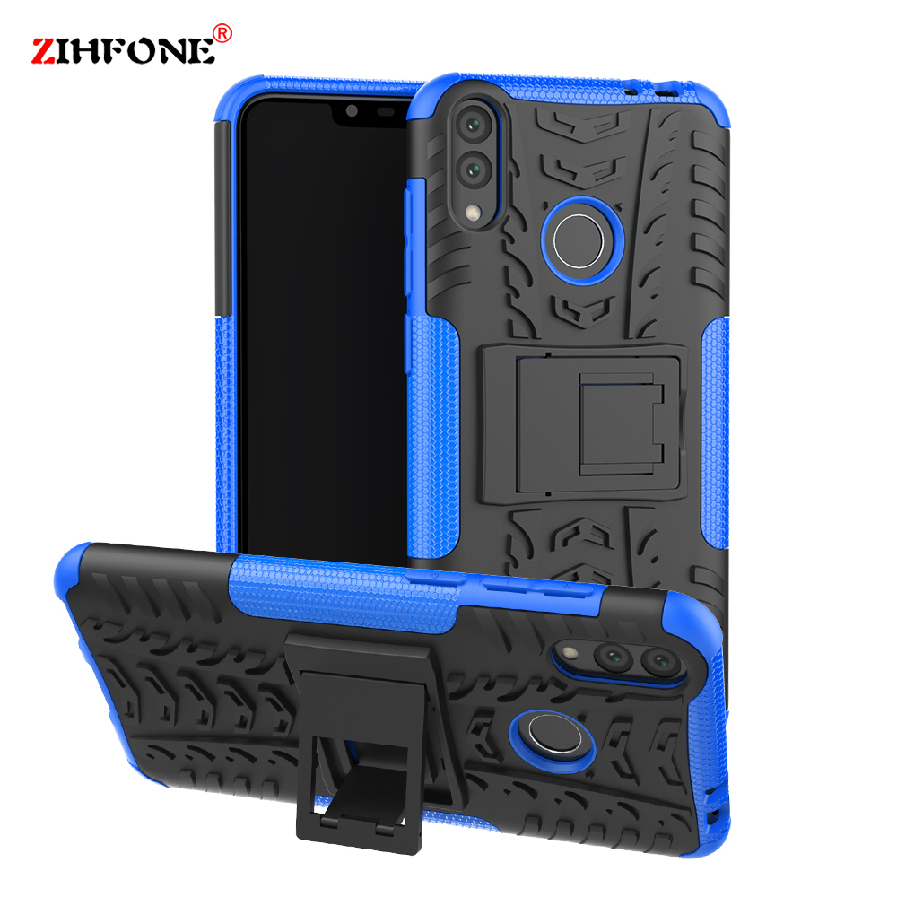 Phone Cases for Huawei Honor 8C Cover Shockproof Armor Soft TPU Hybrid Hard Plastic PC Back Coque On 8X Capa