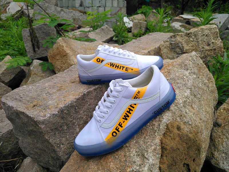 fa542e67eb ... VANS CE Y62 Vans Old Skool X Off-White Classic Men and Womens Sneakers  canvas