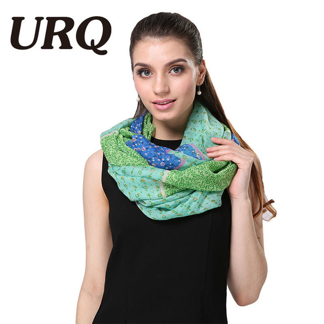 Sweet ring scarves loop for women foulard Fashion Fresh style small flower Print Woman Warm Tube scarves muffler 2017 new hot