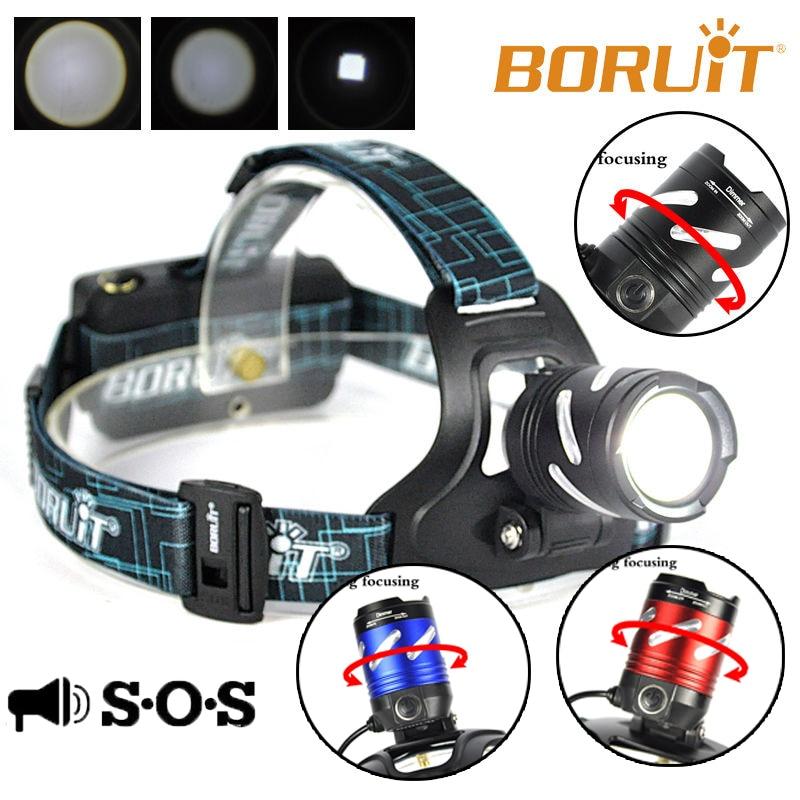 BORUiT B9 XPG2 LED AAA / 18650 Zoombare Scheinwerfer für Jagd SOS - Tragbare Beleuchtung