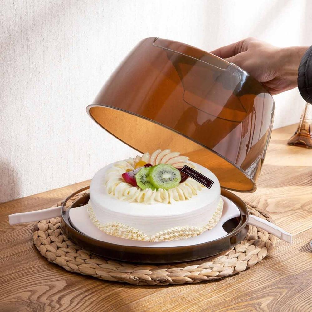 OTHERHOUSE PP Round Cake Box Holder Dessert Container Handle Pastry Storage Box Case Birthday Wedding Party Kitchen Accessories