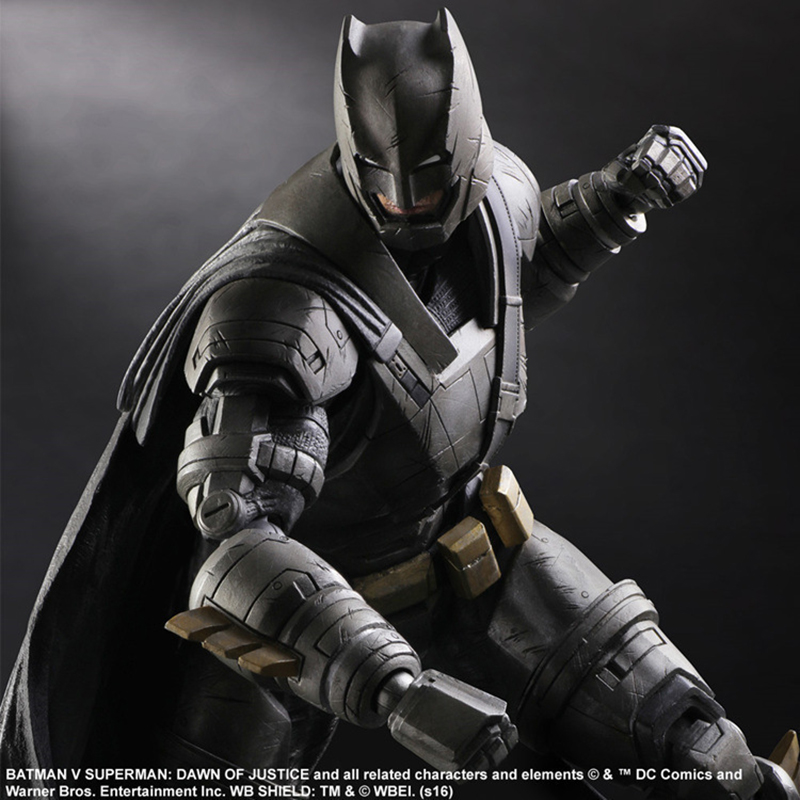 Batman vs Superman Play Arts KAI Figure Dawn of Justice NO.3 Armored Batman PVC Action Figures Collectible Model Toy 25cm KT3097 tobyfancy play arts kai action figures batman dawn of justice pvc toys 270mm anime movie model pa kai heavily armored bat man