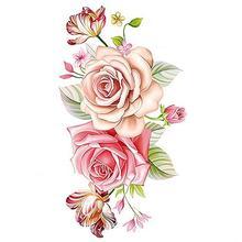ebdfca654 Women's Body Art Waterproof Beautiful Peony Flower Colorful Arm Leg Back Temporary  Tattoo Sticker Tattoo &