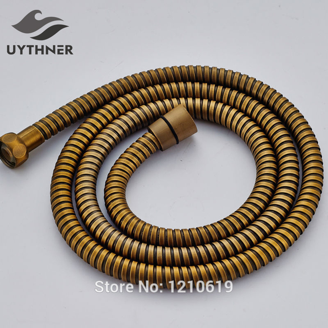 New Arrival 1.5M Bathroom Replacement Shower Hose Antique Brass ...
