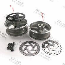 Cubo de rueda de vacío de aleación de aluminio para bicicleta de bolsillo, parte trasera de bolsillo para moto de 47cc y 49cc, 110/50 6,5 y delantera, 90/65 6,5