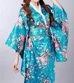 Винтаж женская атласная кимоно традиционные японские юката новинка ну вечеринку платье производительность танцевальные костюмы один размер