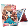 9.7 Inch Tablets Protective Shell Surface-Waterproof ShockProof Lovely Girl Cover Case For iPad 2/3/4