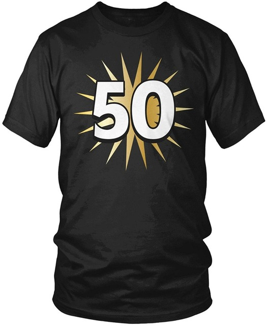 Personalized Shirts Short Sleeve Gift 50th Birthday Shirt 50 Years Old Fiftieth Men S T