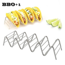 Stainless Steel Taco Rack Taco Holders 4 or 5 Hard or Soft Shell Tacos Truck Tray Style Taco Stand Mexican Food Rack Pizza Tool