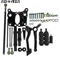 Black Forward Controls Complete Kit With Motorcycle Pegs Levers Linkages For Harley Sportster XL 1200 XL 883 1991 2003