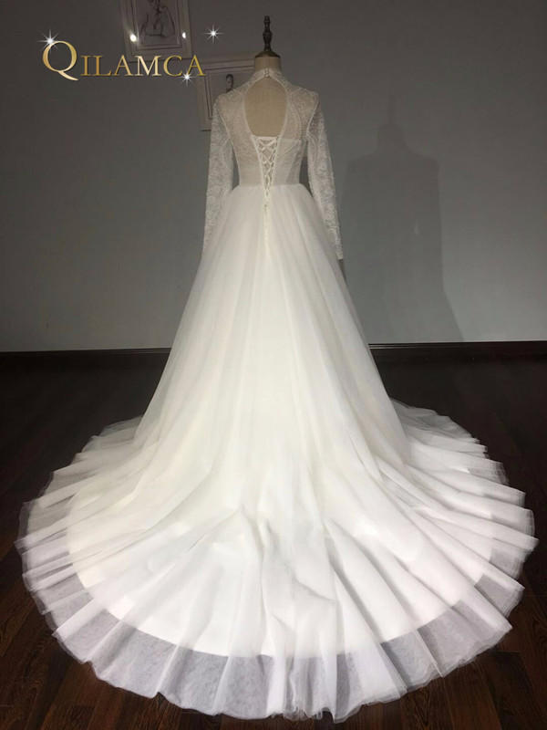Πραγματικά δείγματα μπάλα φόρεμα Puffy - Γαμήλια φορέματα - Φωτογραφία 6