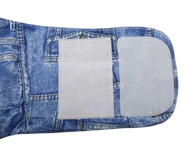 Extra large pocket patterned denim