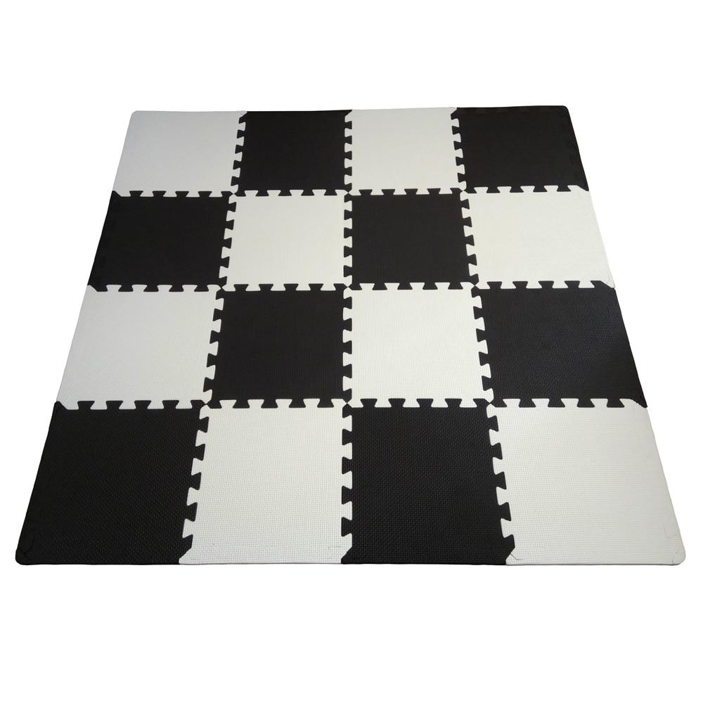Matt Mats Baby Eva Foam Play Puzzle Mat 16pcs Lot Black
