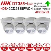 Hikvision OEM IP Camera DT385 I = DS 2CD2385FWD I 8MP Network CCTV Camera H.265 CCTV Security POE WDR SD Card Slot 4pcs/lot