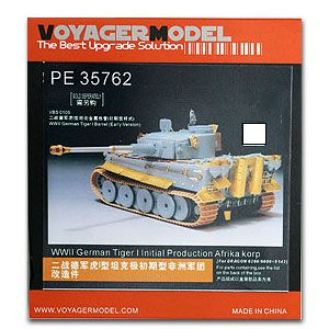KNL HOBBY Voyager Model PE35762 World War II German tiger I tank type very early African ...