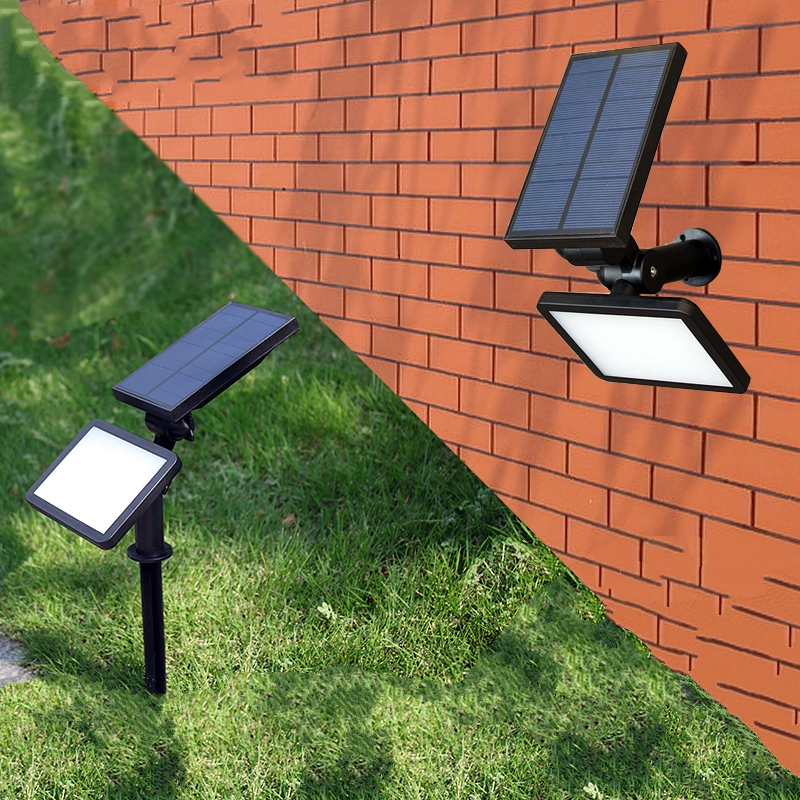 Super Bright 48 leds LED Solar Panel Lights Wall Lawn Outdoor Garden Lamp New Year Christmas Projection Garland Luminaria Decor цена 2017