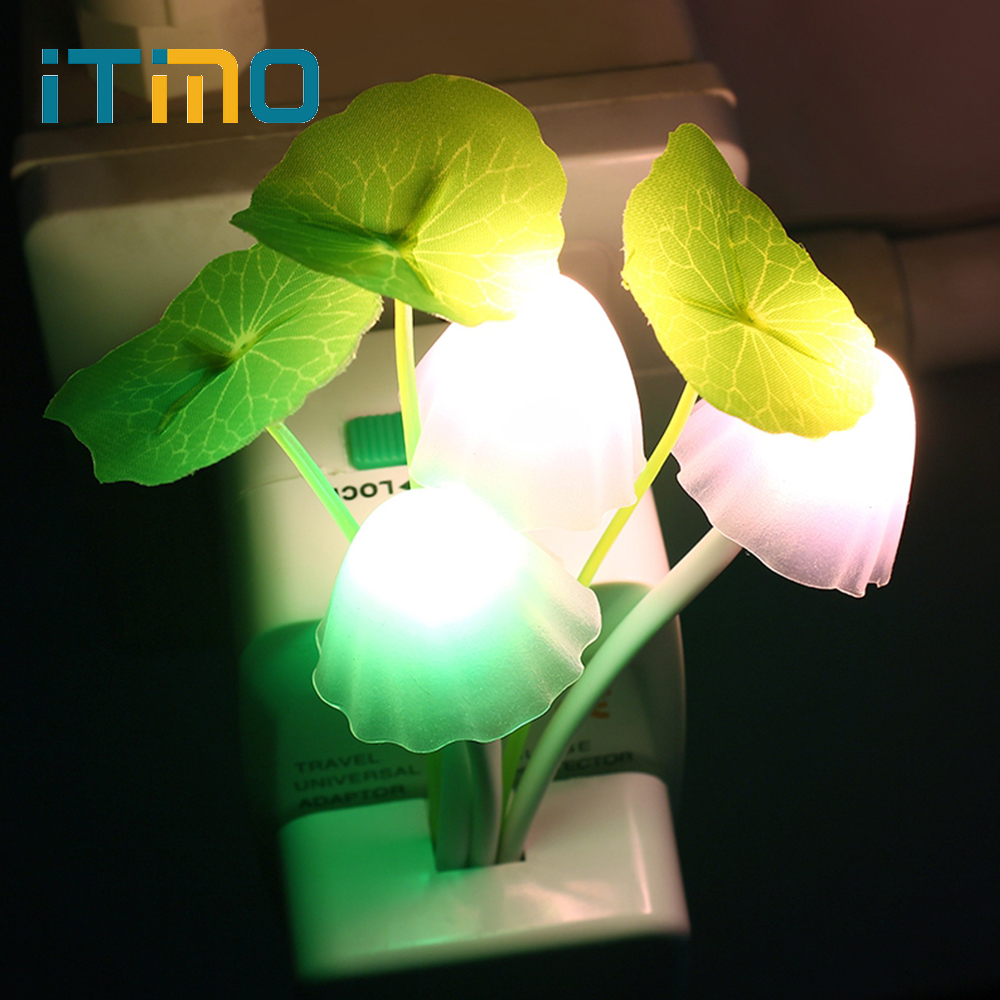 LED Mushroom Night Lights US EU Plug Romantic Colorful Bulb Bedside LED Atomsphere Lamp Home Illumination Decoration Decor Gift