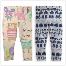 2-7Y Girls leggings baby girl pants for girls Children trousers kids pencil pants Cotton brand butterfly rabbit spring autumn