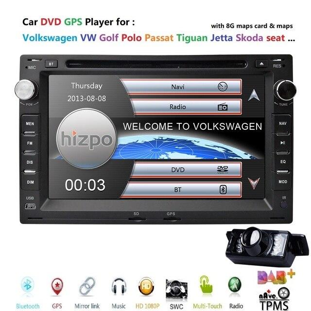 "7"" Touchscreen Car In Dash Radio DVD Player GPS Navigation fit for VW Volkswagen Passat Jetta CITI CHICO TRANSPORTER T5 Golf MK3"