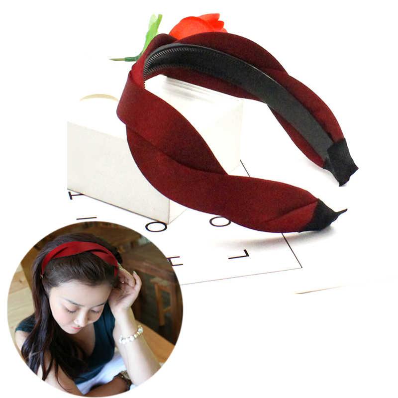 AIKELINA Baru Bando Penjualan Panas untuk Desain Wanita Lady Padat Kain Aksesoris Rambut untuk Anak Perempuan Headwear Hairbands Lebar