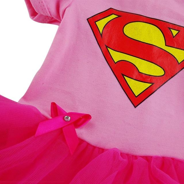 Bébé Fille de Super-Héros Tutu Robes Headhand Manches Courtes Coton Infantile Costume Taille 0-12 Mois