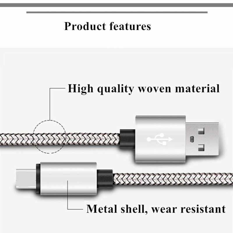Byleen/0,25/1/2 m Micro USB de carga rápida USB 2,0 cargador para huawei Y5 Y6 2018 P smart P8 Lite 2017 Honor 9 Lite Kabel