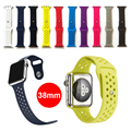 L size Fashion Breathable with holes sport silicone Band for apple watch Series 1/2 38mm Strap for Apple Watch 38mm bands