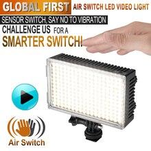 Pergear 216 из светодиодов видео свет диммирования воздушный выключатель датчик света би-тур цвет 3200 К – 5500 К для лус из светодиодов камеры DSLR видеокамеры