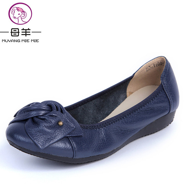 Women Flats, 2017 Fashion Shoes Woman Loafers, women Genuine Leather Casual Flat Shoes Soft Comfortable Women Shoes