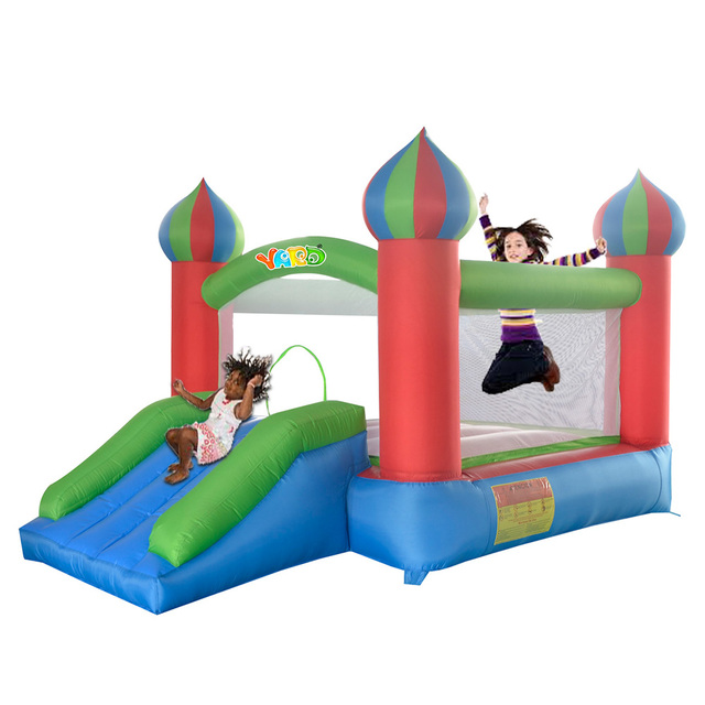 Yard envío libre mini gorila inflable castillo hinchable con tobogán divertido parque infantil para los niños sanos exercies