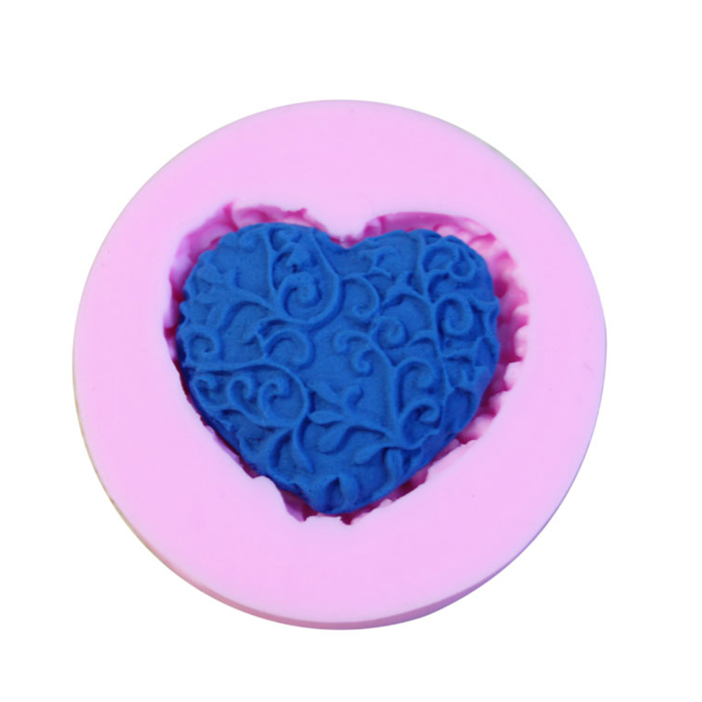 baking Fondant Mould Wedding Love Heart Shape Silicone Mold Cake Decoration tools handmade soap mold in Cake Molds from Home Garden