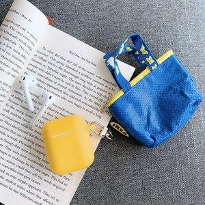 Image 2 - หรูหราน่ารักมินิเหรียญกระเป๋าสตางค์ป้องกันหูฟังซิลิโคนสำหรับAirpodsชุดหูฟังไร้สายบลูทูธกระเป๋ากล่อง