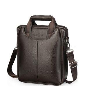 Image 3 - Vormor marca de couro do plutônio dos homens sacos moda masculina mensageiro sacos pequeno homem maleta casual crossbody bolsa ombro