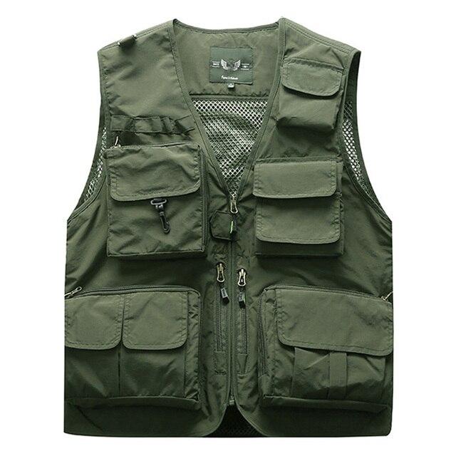 חיצוני קיץ מטען טקטי וסטים מעיל גברים הלבשה עליונה מעיל רב כיסי שרוול מעילי S-5XL בתוספת גודל 6XL 7XL m7898