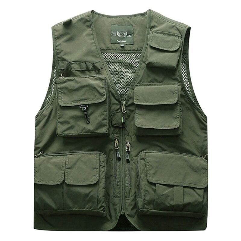 Extérieur été Cargo tactique gilets veste hommes veste d'extérieur Multi poches manches vestes S-5XL grande taille 6XL 7XL M7898