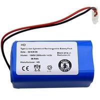 Bateria 14.8V 2600Mah recarregável para Ecovacs Ilife Robotic Vacuum Cleaner Acessórios Peças para Chuwi Ilife A4 A4S A6 Peças p/ aspirador de pó     -