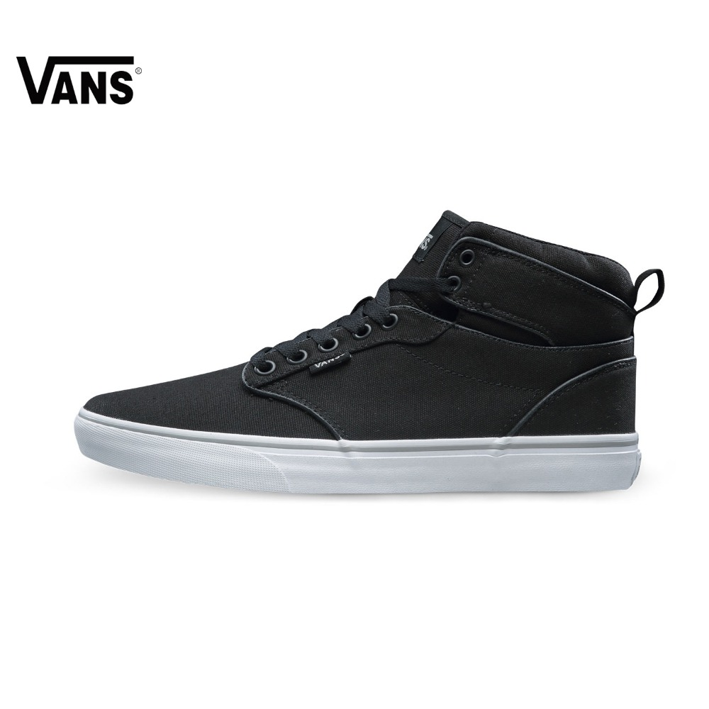 Original  Vans Black Color High-Top Men's  Sneakers For Men Skateboarding Shoes Sport Shoes