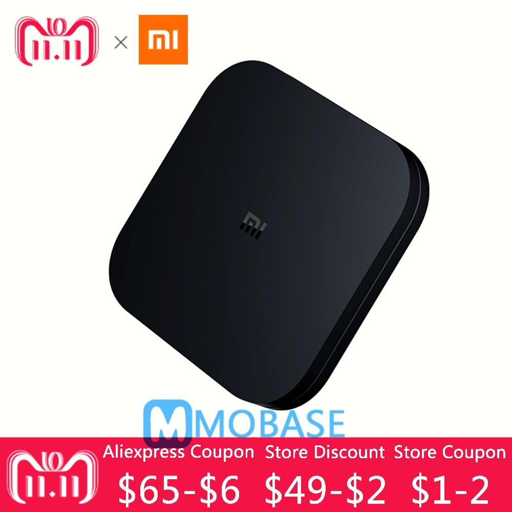 D'origine XIAOMI Mi Boîte 4C Android TV Box 6.0 Amlogic Cortex-A53 Quad Core 64bit 1 gb/8 gb 4 k HDR TV Boîte DTS-HD 2.4g WiFi HDMI