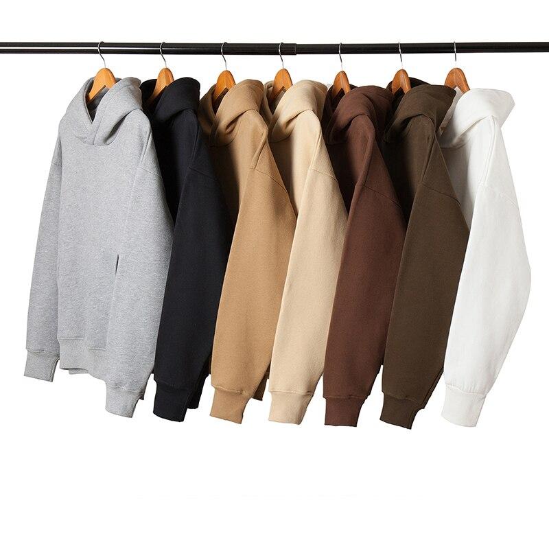 Multi colors oversized hip hop mens hoodies blank streetwear hoodies sweatshirts unisex