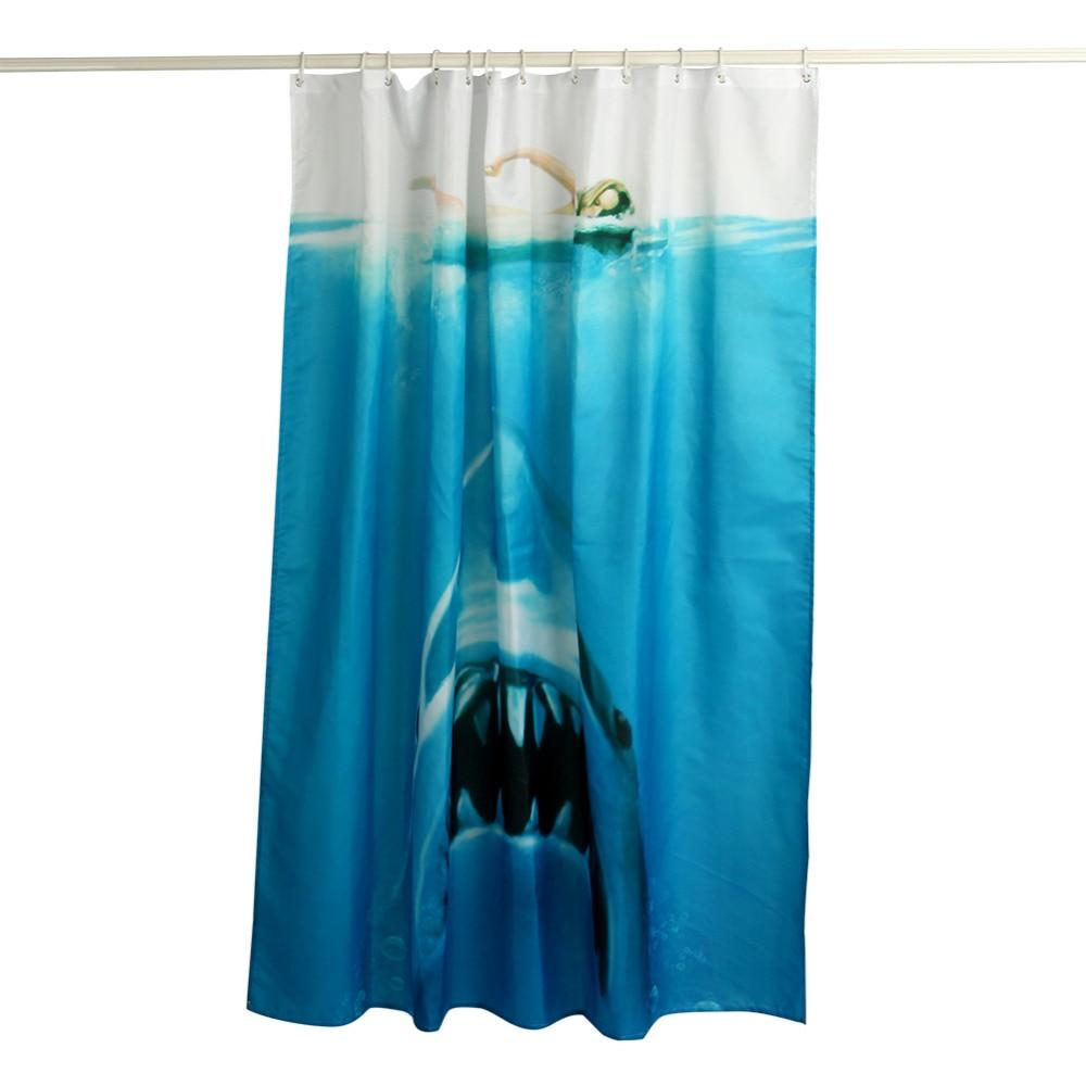 Ocean shower curtains - W Shower Curtain Ocean Scenery Printing Polyester Bathroom Curtain Funny Shower Curtains Bathroom Curtain With Hooks