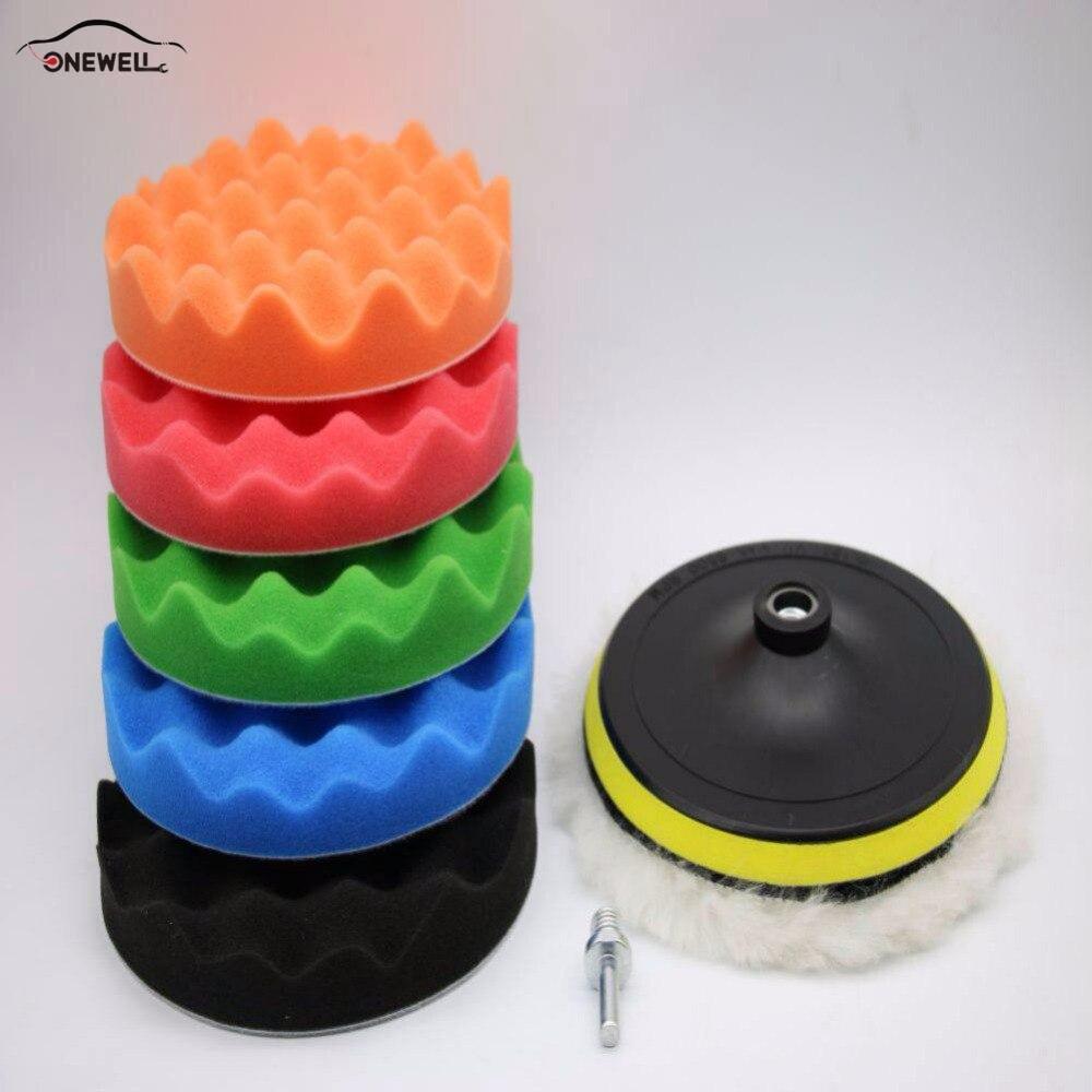 5 Styling 3/4/5inch Car Polishing Wheel Car Beauty Waxing Sponge Wool Cushion Cleaning Polishing Disc Wool