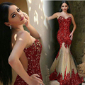 Sexy Long Mermaid Crystals Evening Dresses Luxurious Tulle Glitter Dresses for Evening Party Custom Made Vestido de fest