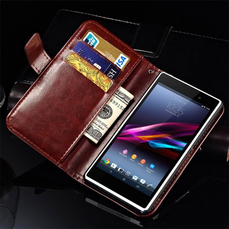Tomkas Official Store Flip Wallet Case for SONY Xperia Z1 L39H C6903 C6906 Vintage PU Leather Phone Bag Cover Case For Sony Xperia Z1 With Card Slot