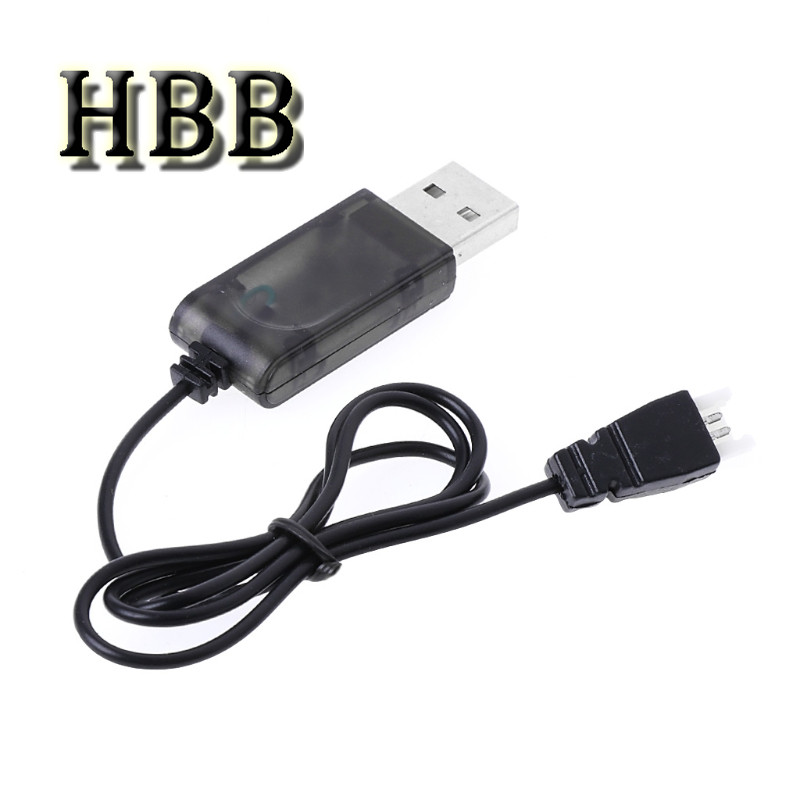 HBB Toys Accessory 3.7V Battery USB Charger Cable for Syma X5 X5C for Hubsan H107L H107C for RC Quadcopter 1pcs 3 7v lipo battery adapter charger usb interface 4 in 1 5 in 1 6 in 1 for syma x5 x5c x5c 1 h107 h107c h8 wholesale