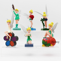 Tinker Bell Fairies PVC Figures Princesses Dolls Girls Toys Christmas Birthday Gifts 6pcs/set 7~12cm